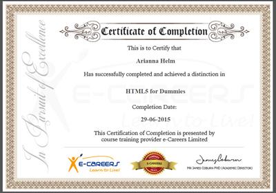 html5 certificate