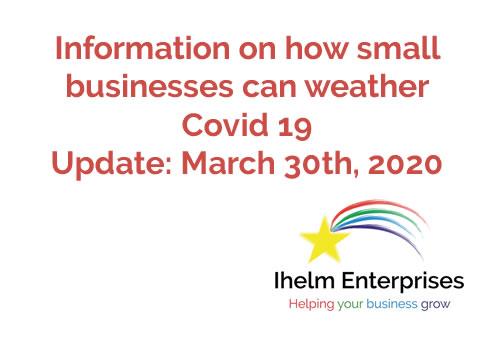 Ihelm Enterprises Covid 19 Update March 30